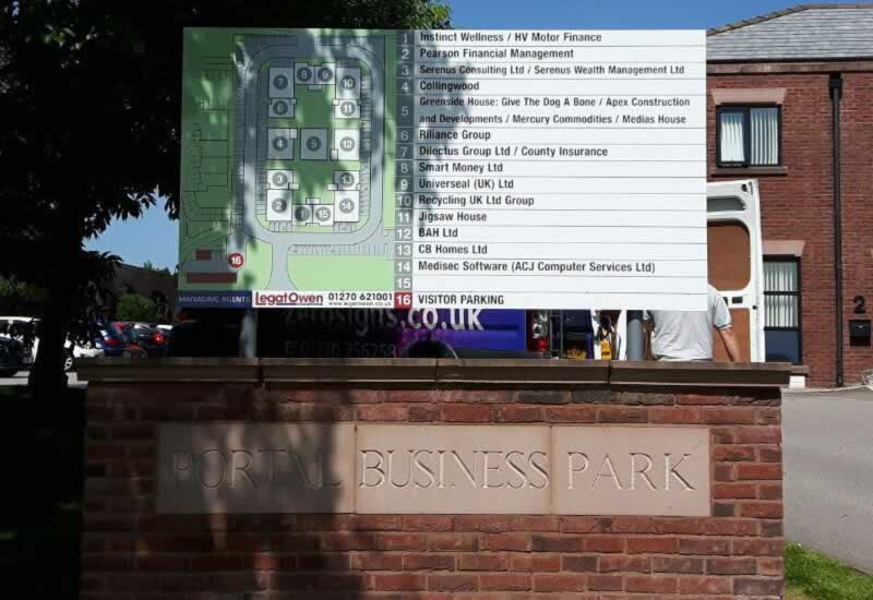 Bespoke Outdoor Free Standing Signs Cheshire Manchester