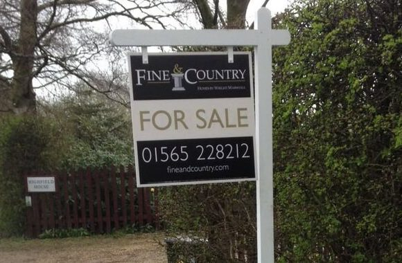 residential for sale board