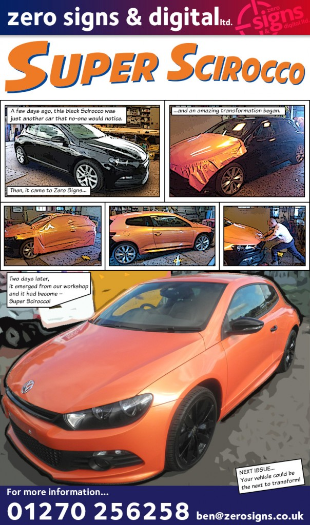 Super scirocco zero signs digital this week we produced a colour change vehicle wrap malvernweather Choice Image