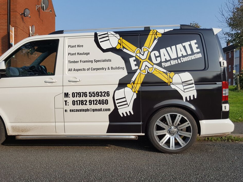 Van Wrap For Plant Hire And Construction Company In