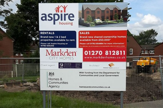 MarkDen Free Standing Construction Sign