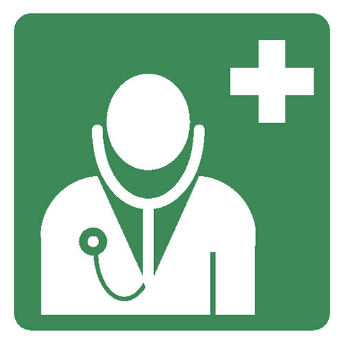 Emergency Doctor Sign First Aid Safety Sign Nationwide
