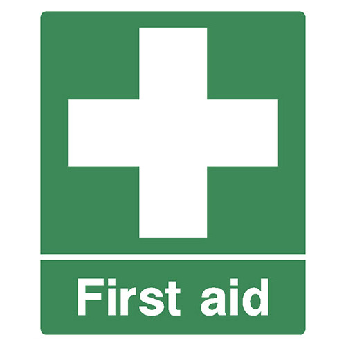Emergency First Aid Point Safety Sign Nationwide Postage