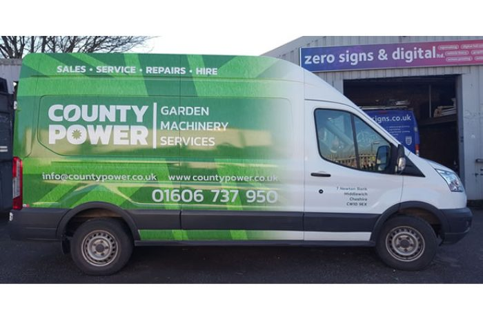 county power van wrap