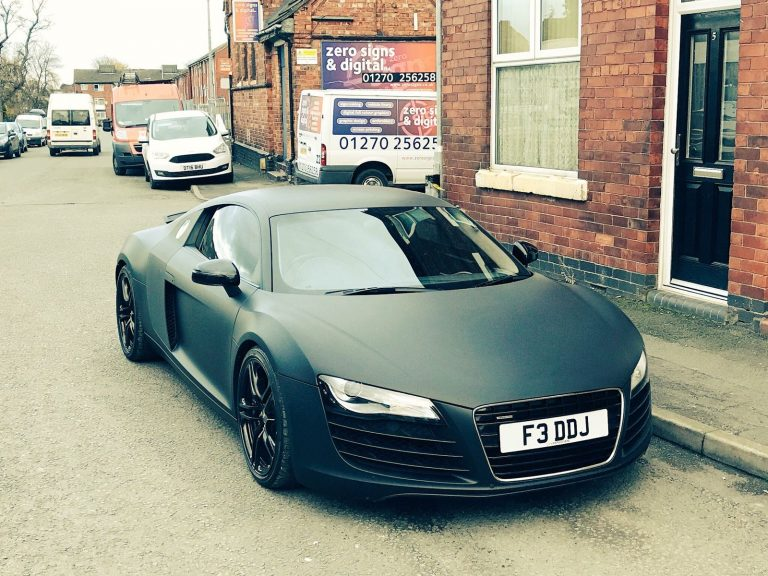 Matt Black Audi R8 Wrapping