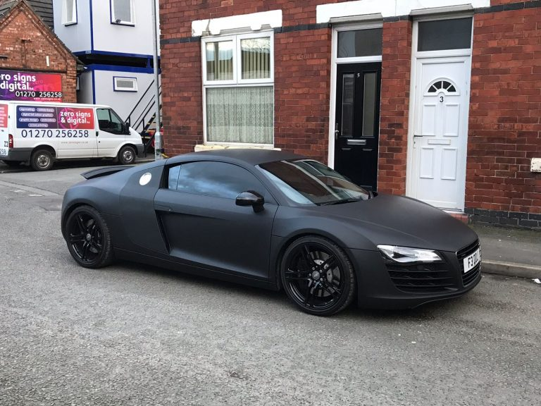 Matt Black Car Wraps